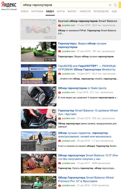 Приток нового трафика сразу из трех источников: поиска по видео Яндекса и Google (в том числе органики), вашего канала YouTube и сервиса Яндекс.Маркет