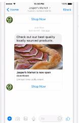 Рекламные сообщения в Messenger