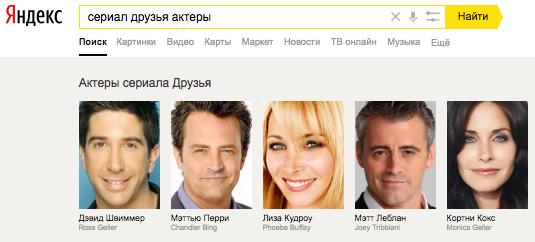 Пример спецэлемента «Карусель» Яндекса